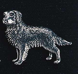 pewter golden retriever badge