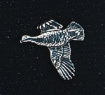 pewter grouse badge