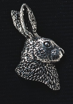 pewter hares head badge