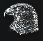 pewter hawks head badge