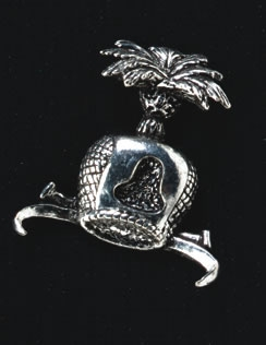 pewter hawk s hood badge