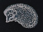 pewter hedgehog badge
