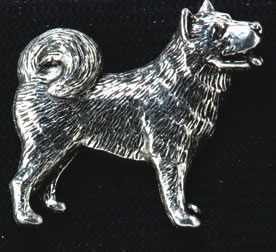 pewter husky badge