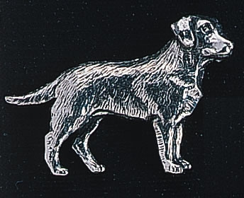 pewter labrador badge
