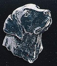 pewter labradors head badge