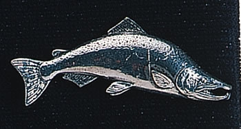 pewter large salmon badge