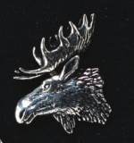 pewter moose badge