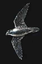 pewter peregrine falcon badge