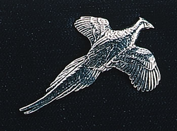pewter pheasant badge