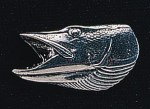 pewter pike s head badge