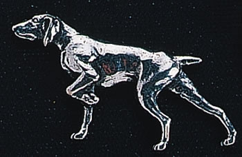 pewter pointer badge