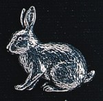 pewter rabbit badge