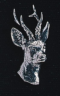 pewter roe deer badge