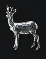 pewter roebuck badge