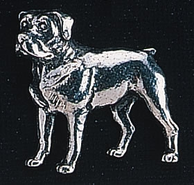 pewter rottweiler dog badge