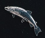 pewter salmon badge