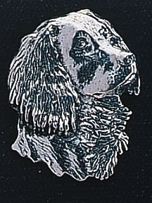 pewter spaniel badge