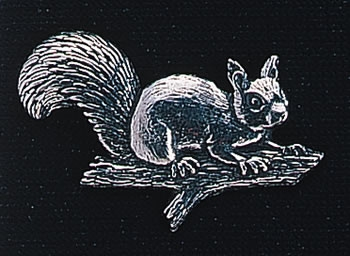 pewter squirrel badge