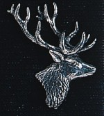 pewter stags head badge