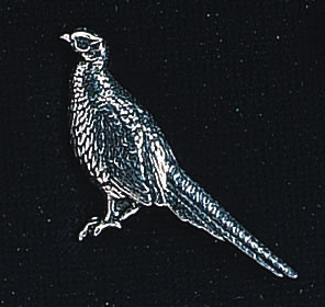 pewter standing pheasant badge