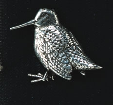 pewter standing woodcock badge