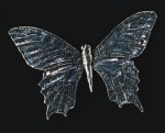 pewter swallowtail butterfly badge