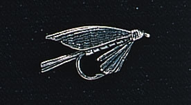 pewter trout fly badge