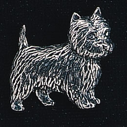 pewter west highland terrier badge