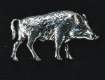 pewter wild boar badge