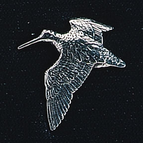 pewter woodcock badge