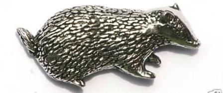 Pewter Badger Badge