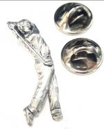 Pewter Golfer Badge