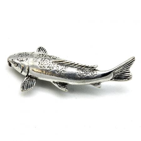 Pewter Koi Carp Badge