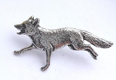 Pewter Running Fox Badge