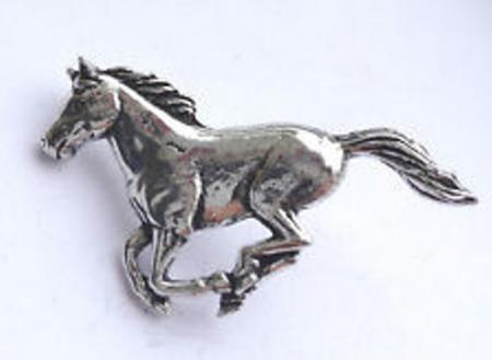 Pewter Running Horse Badge