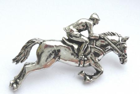 Pewter Show Jumper Badge
