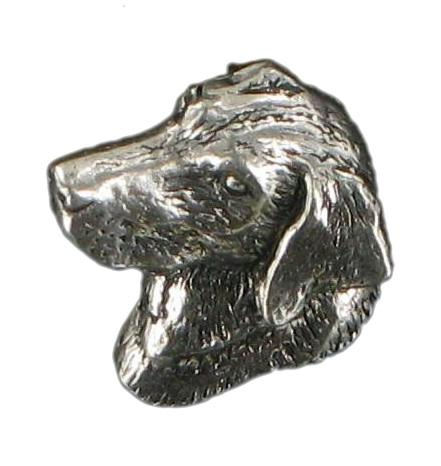 Pewter Small Labrador Head Badge