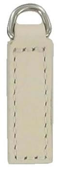 Plain 3cm replacement zip tag for Radley handbags Z19B White
