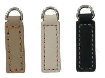 replacement zip tags for Radley bags Z23 to Z25 left to right taupe, white, black