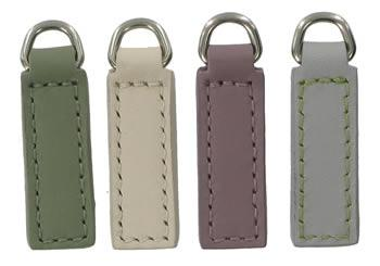 Plain 3cm replacement zip tag for Radley handbags Z19 (sage Z19A, chalk white Z19E, plum Z19D and pale blue Z23A)