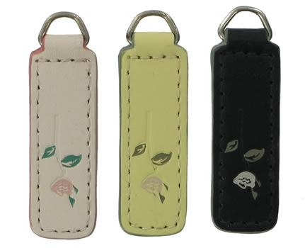 replacement zip tag for Radley handbags Z2 (left to right- white, light yellow and black)