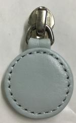 Replacement round zip pull for handbags in duck egg blue leather ZS