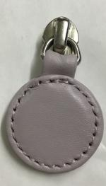 Replacement round zip pull for handbags in lilac leather ZS