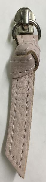 Replacement zip pull for handbags in knotted pale pink leather Z6