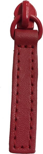 Replacement zip pull for handbags in red leather Z8