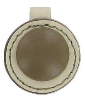 Round Smartie Button replacement zip tag Z24A cream and coffee