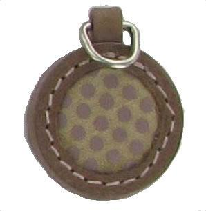 Round spotted replacement zip tag for Radley handbags Z25A