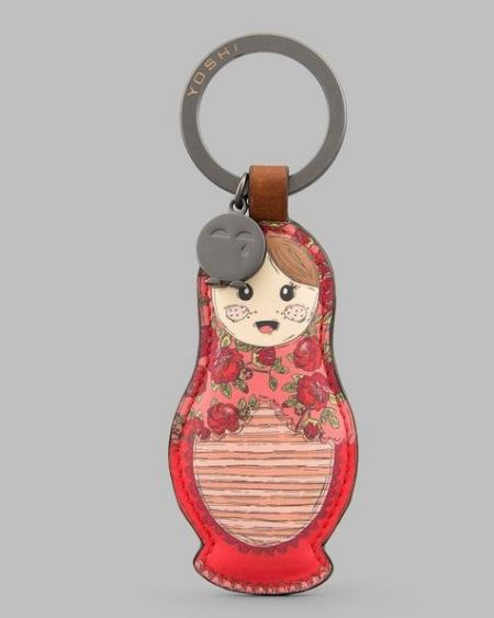 Russian Dolls Leather Keyring YKR RDL 2
