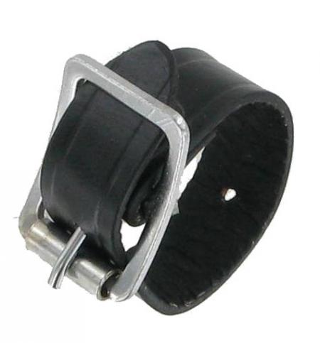 Six Inch Black Leather Strap BLKSTRP6