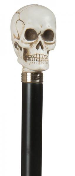 Skull Head walking cane with silver finish